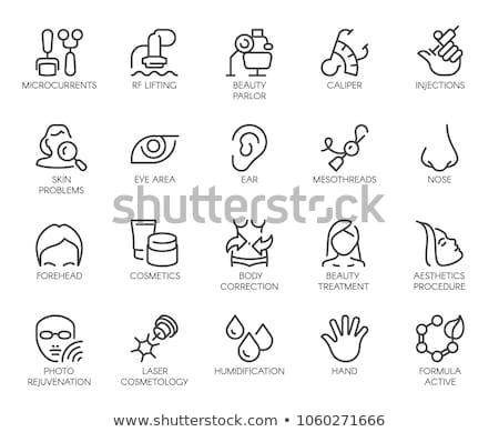 Vrouwelijke icon vector schets illustratie teken Stockfoto © pikepicture