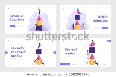 Business hierarchy concept landing page. Stock photo © RAStudio