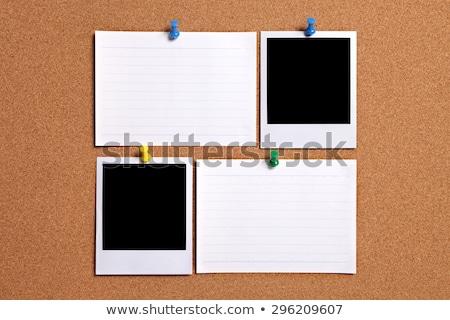 Due sughero copia spazio carta note Foto d'archivio © dashapetrenko