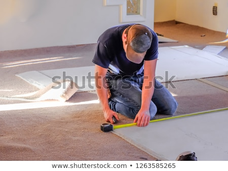 Carpet Floor Installation Stock photo © AndreyPopov