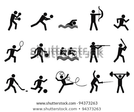 Baseball Player Icon Vector Outline Illustration Stock photo © pikepicture