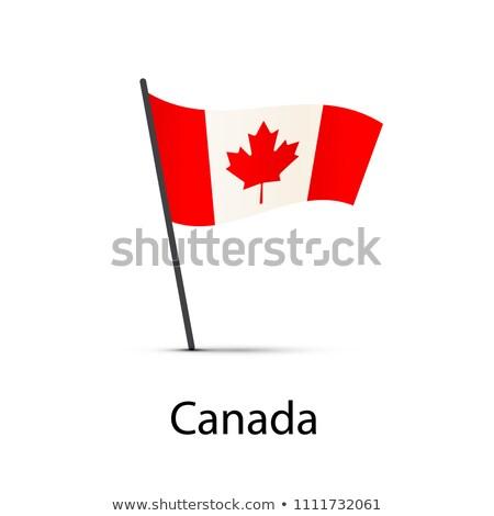 Canadá bandeira pólo elemento branco Foto stock © evgeny89