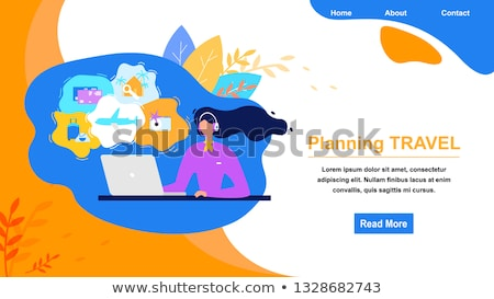 Hotel booking call center concept landing page Stock photo © RAStudio