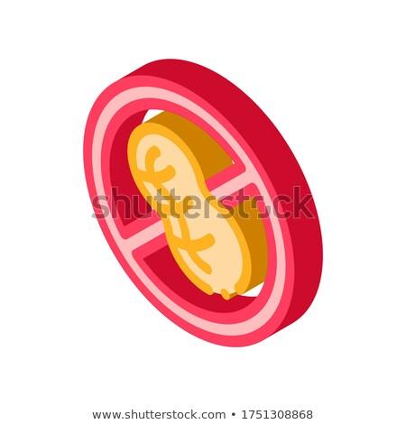 Gratis teken pinda isometrische icon vector Stockfoto © pikepicture