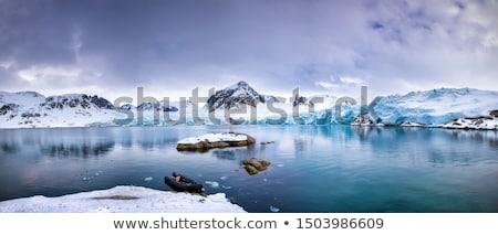 ストックフォト: ノルウェー · 風景 · 絵のように美しい · 島々 · ビーチ · 自然