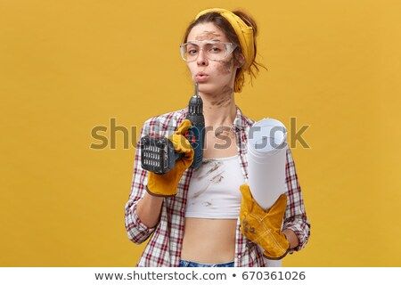 Stock photo: confident female builder