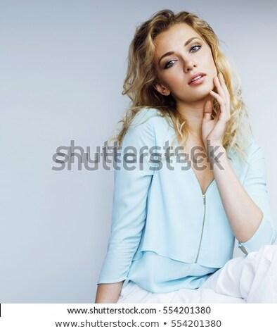 face of beautiful blonde l Stock photo © ssuaphoto