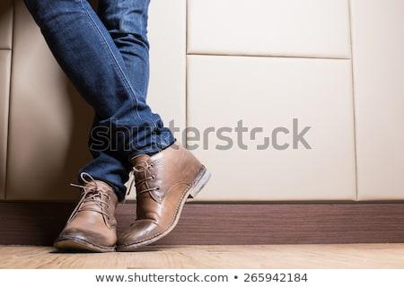 modern · adam · ayakkabı · yalıtılmış · beyaz · dizayn - stok fotoğraf © Kurhan