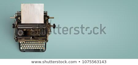 Rétro machine à écrire isolé blanche Photo stock © HectorSnchz