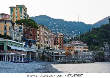 Stockfoto: Ochtend · strand · Italië · water · gebouw