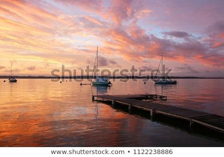 Renkli gökyüzü gün batımı doğal bulutlar manzara Stok fotoğraf © ryhor