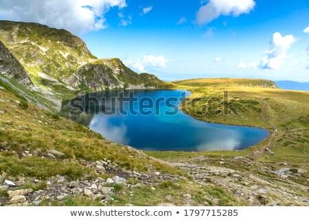Lake And Rocks Zdjęcia stock © stoyanh
