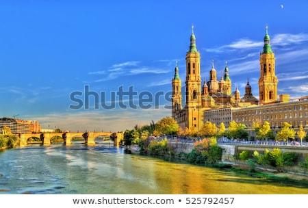 Pijler basiliek Spanje gebouw kerk Stockfoto © asturianu