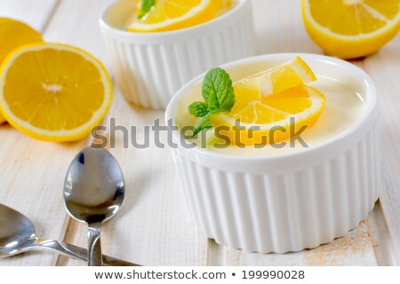 lemon panna cotta stock photo © punsayaporn