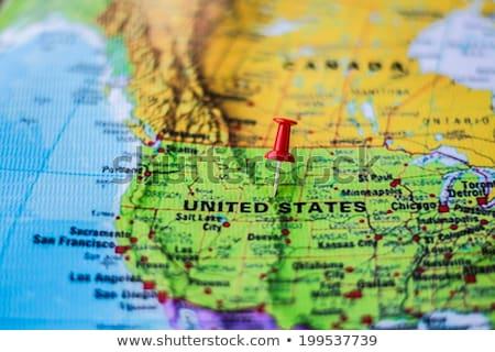 Stany Zjednoczone antyczne świecie pin świat Zdjęcia stock © idesign