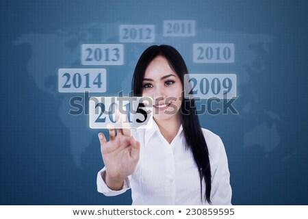 женщину числа 2015 виртуальный экране Сток-фото © stevanovicigor