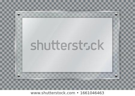 metal plate sign board Stock photo © FOKA
