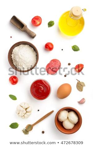 spoon of sliced tomato Stock photo © Digifoodstock