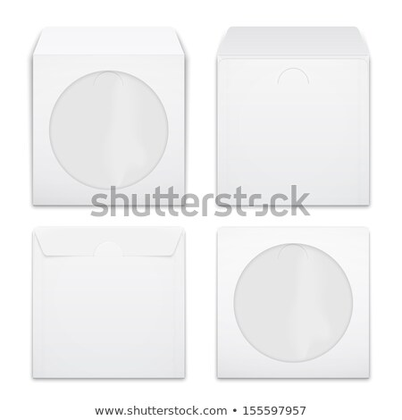Envelopes for CD with window, vector illustration. Stock photo © kup1984