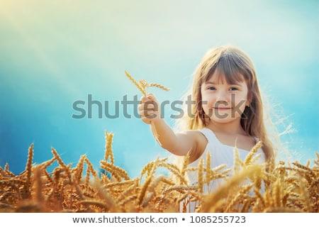 девушки играет небе природы весело Сток-фото © IS2