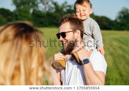 anne · kız · tadını · çıkarmak · ilk - stok fotoğraf © is2
