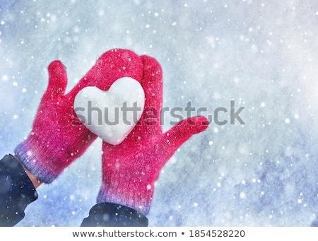 mulher · gelo · brilhante · quadro · cara - foto stock © dolgachov