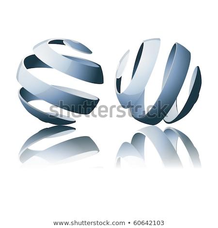 Metal dimensional spirals 3D Stock photo © djmilic