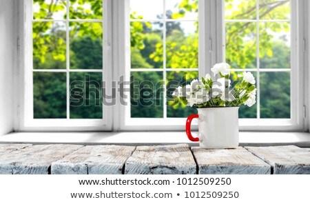 Lumineuses belle fleurs vase fenêtre eau Photo stock © ruslanshramko
