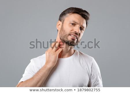 Homem dor pescoço africano corpo Foto stock © AndreyPopov
