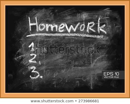 Granicy szablon dzieci praca domowa ilustracja papieru Zdjęcia stock © colematt