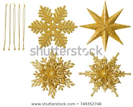 Altın kar taneleri dekorasyon yalıtılmış karanlık şeffaflık Stok fotoğraf © ivaleksa