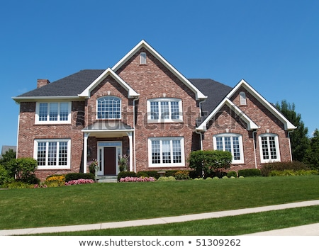 big house with red roof stock photo © colematt