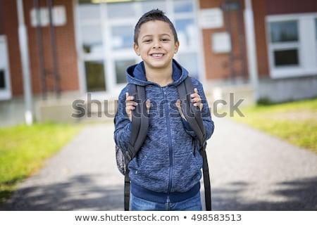 öğrenci erkek dışında okul ayakta çocuklar Stok fotoğraf © Lopolo
