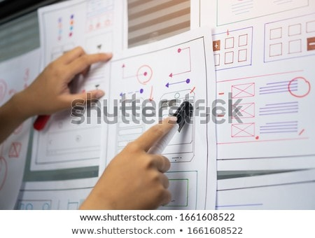 ウェブ · デザイナー · 作業 · ユーザー · インターフェース - ストックフォト © dolgachov