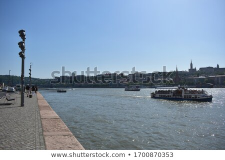 Budapest Danube river historic waterfront architecture springtim Stock photo © xbrchx