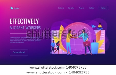 expat work concept landing page stockfoto © rastudio