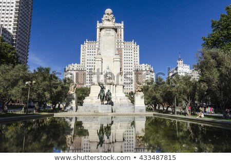 cervantes monument madrid stock photo © borisb17