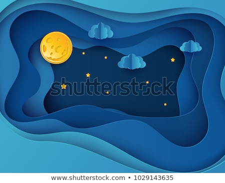 blue abstract vector design with paper cut stock photo © blumer1979