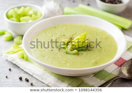 Apio sopa servido vidrio jar alimentos Foto stock © Pheby