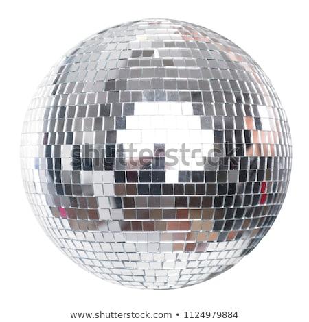 shiny glass ball on a white background Stock photo © mizar_21984