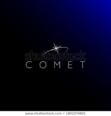 Brandend star vector logo eenvoudige monochroom Stockfoto © barsrsind