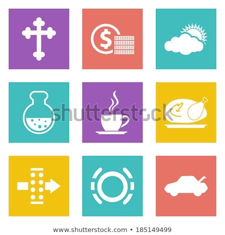 Cristão atravessar ícone projeto abstrato linear Foto stock © kyryloff