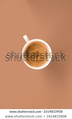 Cup of hot french coffee as breakfast drink, flatlay cups on whi Stock photo © Anneleven