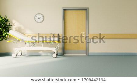 stretcher in front of hospital room door realistic 3D rendering Stock photo © sedatseven