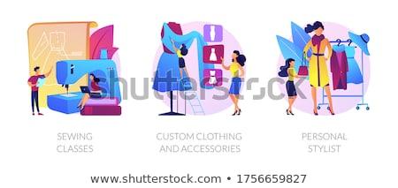 Personal estilista vector metáfora servicios profesional Foto stock © RAStudio