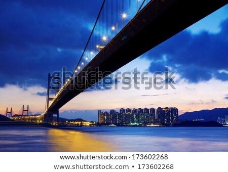 It Is Beautiful Morning Scenes Of Bridge In Hong Kong Foto d'archivio © cozyta