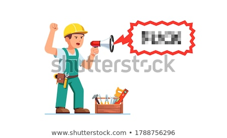 Foreman screaming in a bullhorn Stock photo © photography33