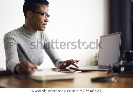 Female Executive on Computer stock photo © lisafx