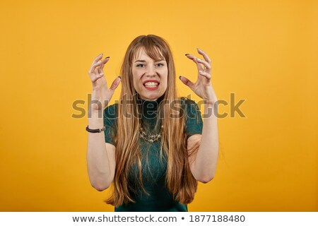 brunette has temper Stock photo © photography33