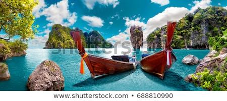 Phuket barco belo mar Tailândia praia Foto stock © tony4urban